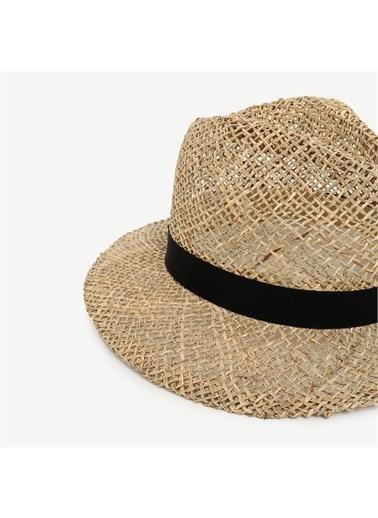 Yargıcı Hasır Fötr Şapka Bej